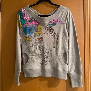 Urban Outfitters Wide Neck Long Sleeve